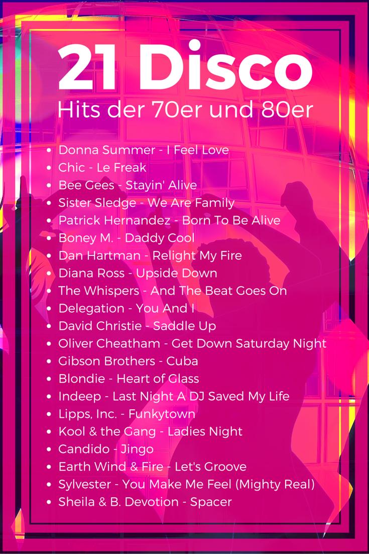 21 Disco Hits der 70er und 80er als Playliste | DJ Rewerb