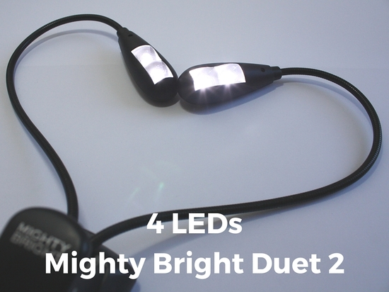 LED Notenpultleuchte Mighty Bright Duet 2