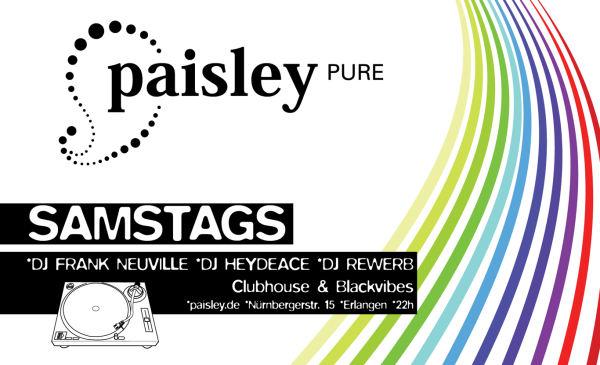 Paisley pure, Flyer, Erlangen
