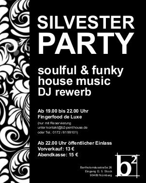 Black & White Silvester Party, B² Penthouse, Nürnberg