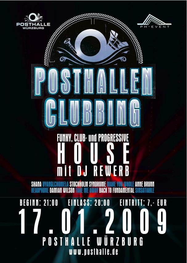 Posthallen Clubbing, Würzburg