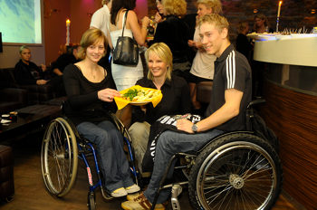 Anna Schaffelhuber (links), Hilde Gerg (Mitte), Georg Reiter (rechts)