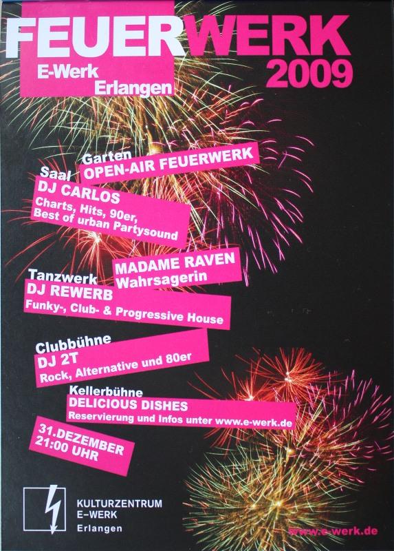 Feuerwerk 2009, Silvester, E-Werk