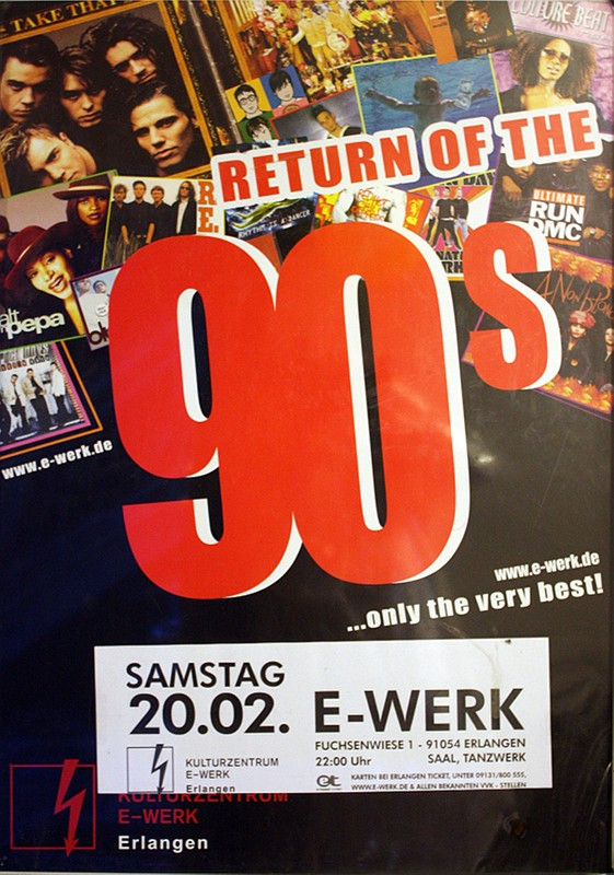 return of the 90s, e-werk, erlangen
