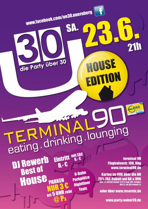 Ü30, House Edition, Terminal90, Nürnberg