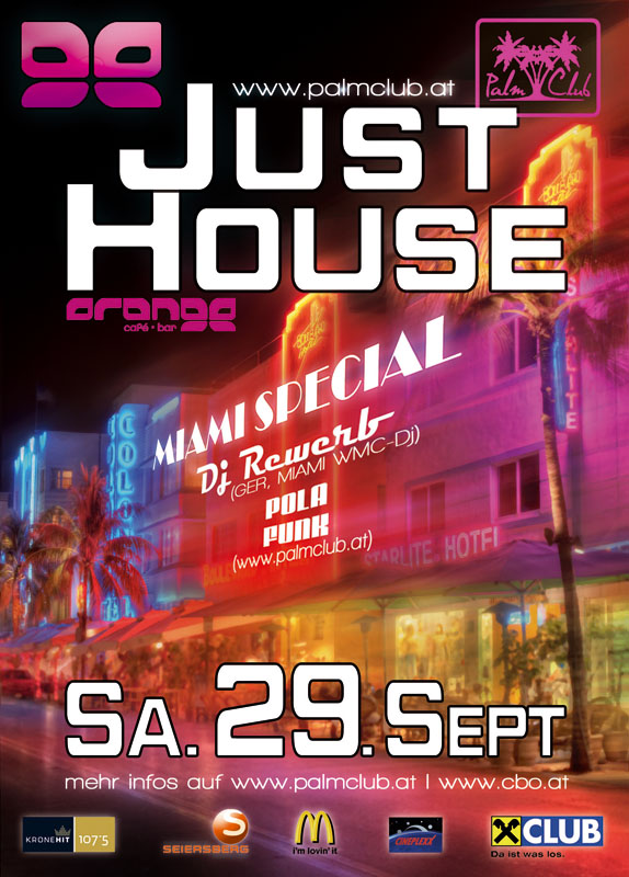 Just House, Orange, Graz, Flyer 29.09.2012