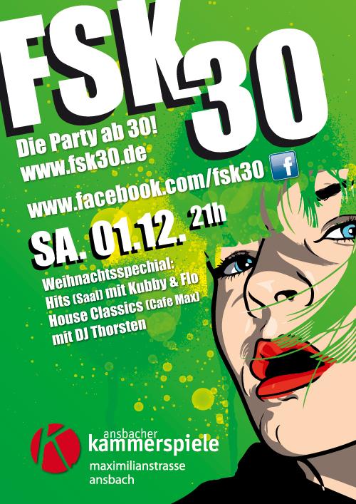FSK 30 am 1.12.2012, Kammerspiele, Ansbach, Plakat