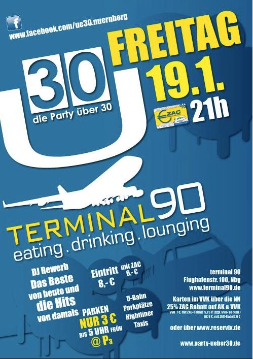 Ü30, Terminal90, Nürnberg, Plakat