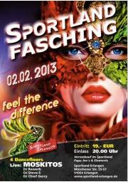 Sportland Fasching 2013, Plakat