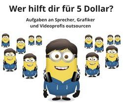 Wer hilft dir für 5 Dollar? Aufgaben an Sprecher, Radioprofis, Grafiker und Setzer outsourcen
