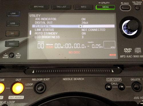 CD2000 Player Nummer einstellen, Menü