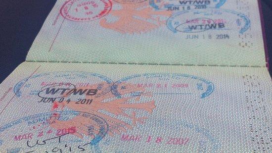 Einreisestempel USA in deutschen Reisepass