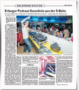 Interview in Erlanger Nachrichten zum Podcasten aus der S-Bahn