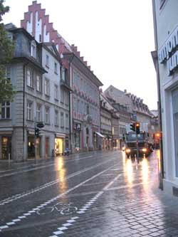 Lange Straße, Montag früh, Bamberg