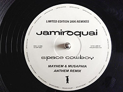 Jamiroquai - Space Cowboy, Vinyl Label