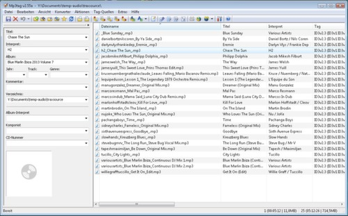Musikdateien mit MP3Tag taggen