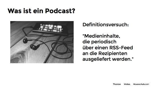 Definition Podcast, Vortrag Wordcamp Nürnberg 2016