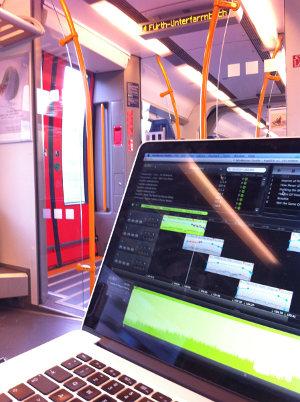 Podcast erstellen, während Fahrt in S-Bahn Nürnberg/Erlangen