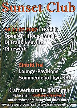 Sunset Club, Erlangen, 21. Juli 2007