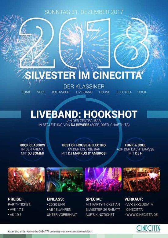 Silvester 2017 im Cinecitta, Nürnberg feiern
