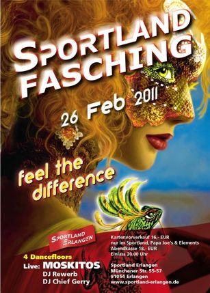 Sportland Fasching 2011, Flyer