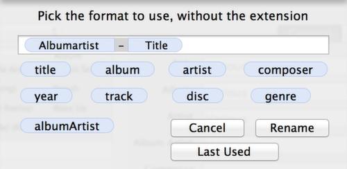MP3-Dateiname anhand ID3 Tags Künstler und Titel ändern