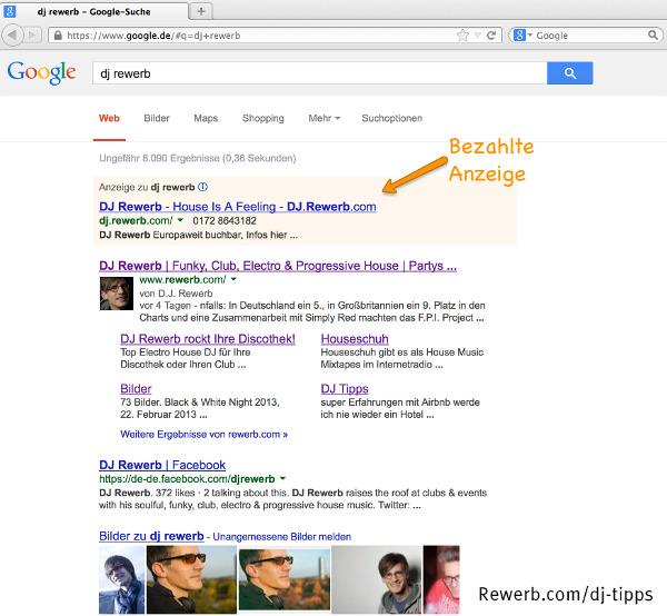 Anzeigenplätze bei Google
