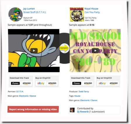 Beitrag zur WhoSampled.com Datenbank
