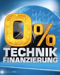 Werbung 0 % Finanzierung