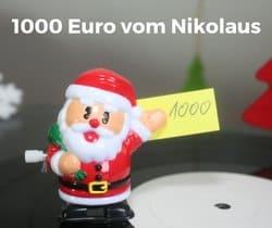 1000 Euro vom Nikolaus - Was würdest du dir kaufen?