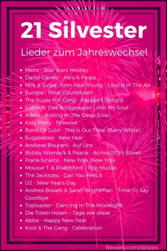 21 Silvester-Lieder, DJ-Playliste zum Jahreswechsel