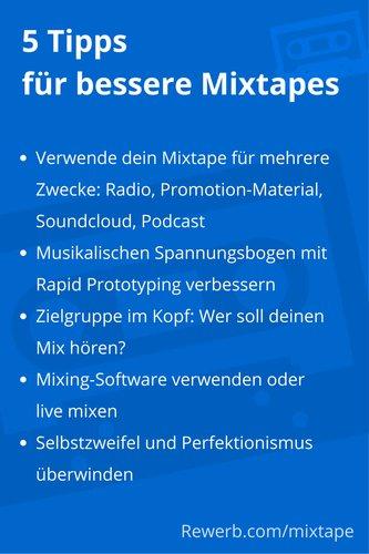 5 Tipps für bessere Mixtapes