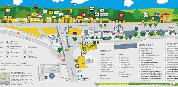 Bergkirchweih, Erlangen, Info Flyer
