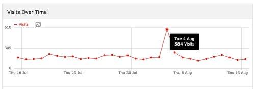 Besucherzahlen, Rewerb.com, 4. August 2015