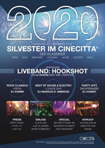 Silvester 2019, Party im Cinecitta Nürnberg