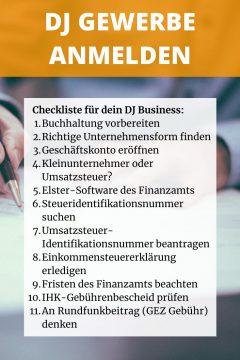 DJ Gewerbe anmelden: Checkliste für Gewerbe, Kleingewerbe, Freiberufler