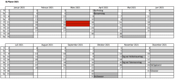 DJ Planer 2021: Party Kalender als Tabelle