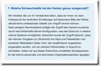 Passworte ändern nach Hackerangriff