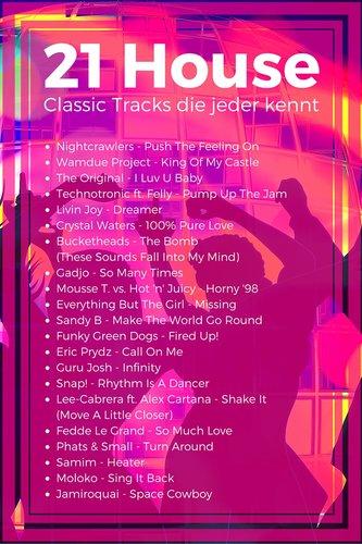 21 Classic House Tracks die jeder kennt