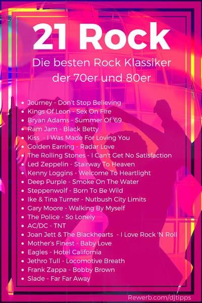 21 Rock Klassiker mit den besten Songs der 70er und 80er