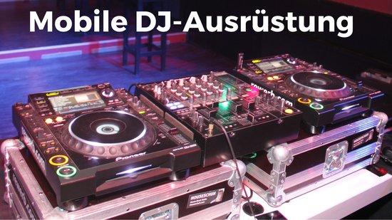 Mobile DJ-Ausrüstung mit CDJ2000 und DJM800