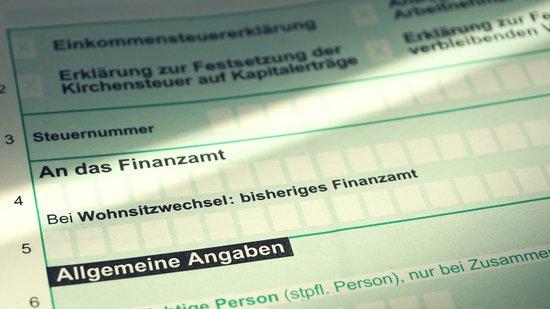 Formular zur Einkommensteuererklaerung