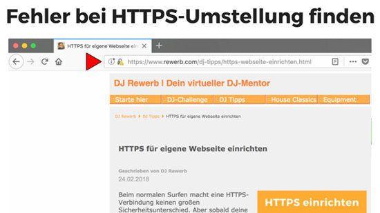 Fehlermeldung im Browser nach HTTPS-Umstellung