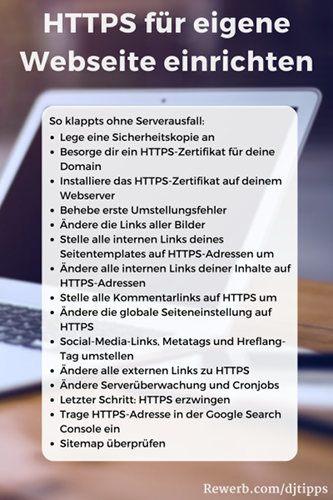 HTTPS für eigene Webseite einrichten, mit diesen Schritten umstellen