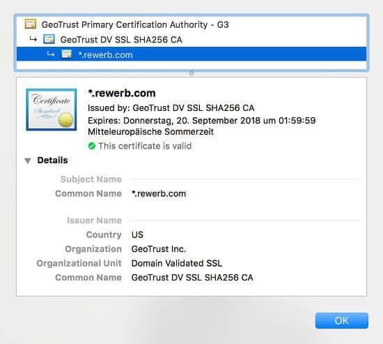 Zertfikatdetails im Browser anzeigen