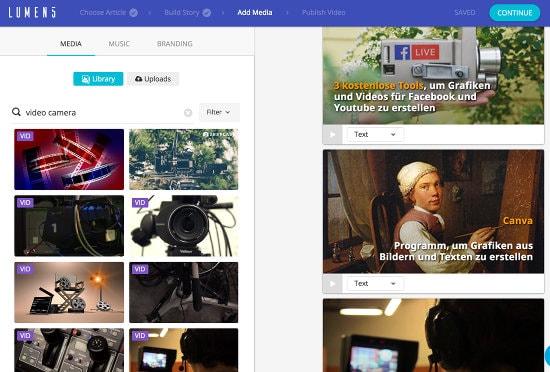Social-Media Videos mit Lumen5 erstellen