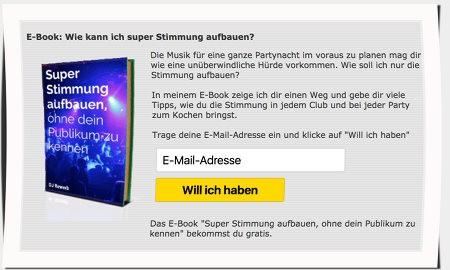 Anreiz für Newsletter-Anmeldung schaffen, E-Book als Freebie
