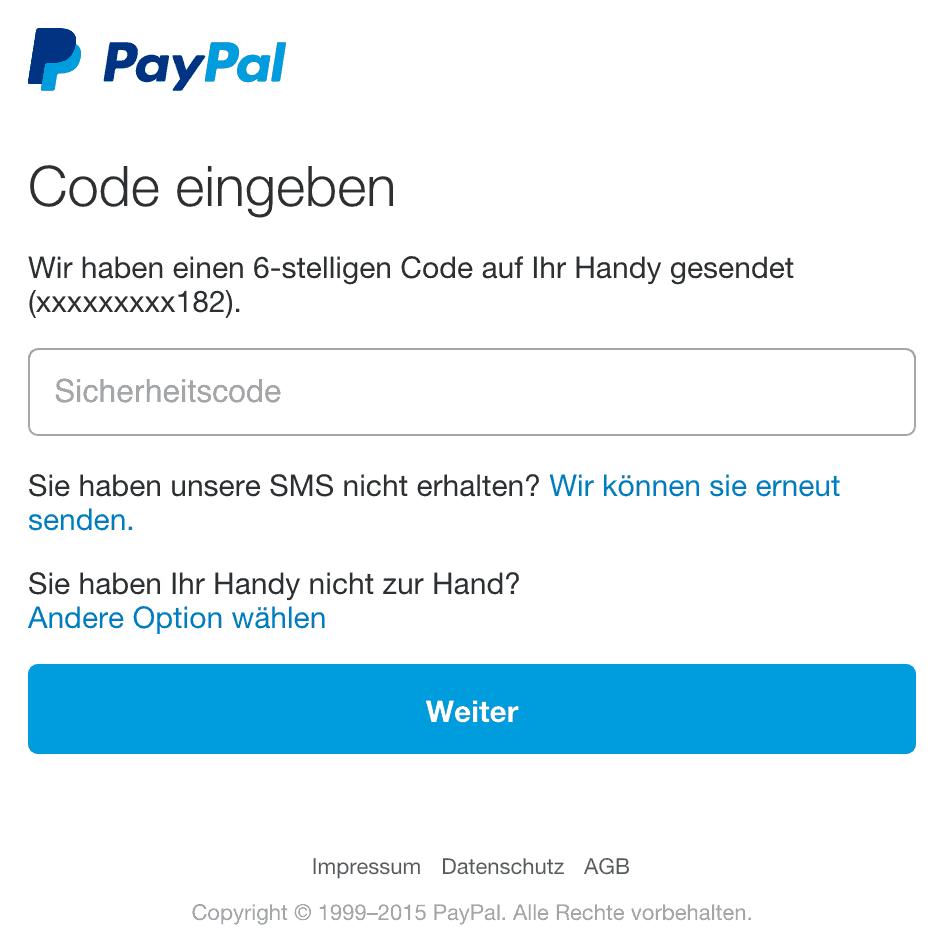 paypal sicherheitsfragen umgehen