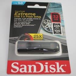 Sandisk Extreme mit 245 MB/Sek Lesegeschwindigigkeit