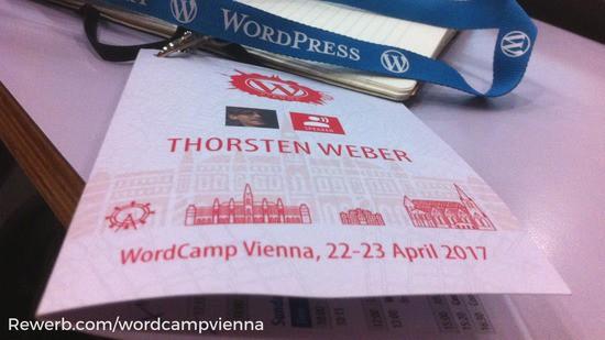 Redner Ticket für Wordcamp Vienna 2017